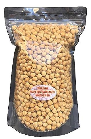Aegeannuts' Roasted Turkish Hazelnuts / Filberts /Kernels - Shelled (4 LB) (Hazelnut Roasted)