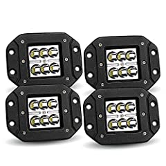 Specification: LED Power:18W(6 x 3W High Intensity LED) Beam Pattern:30 degree Spot Beam Input Voltage:9-30V DC (fits 12V,24V vehicles) Working Lifespan:Over 50000 hours Working Temperature:-40~85 degrees Celsius LED Color Temperature:Pure Wh...