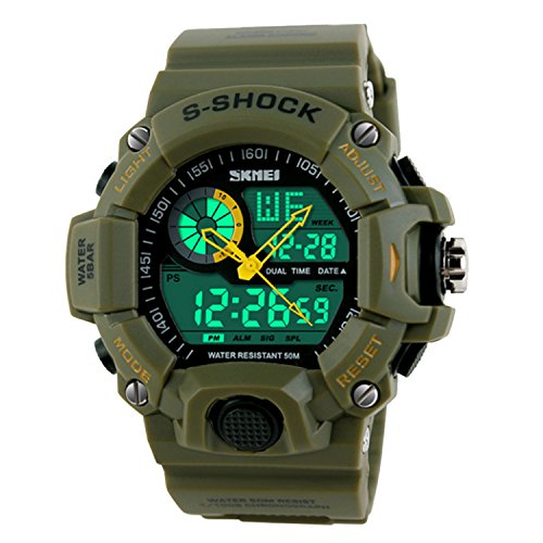 SKMEI 1029 Sport Digital Watches Army Green - 1