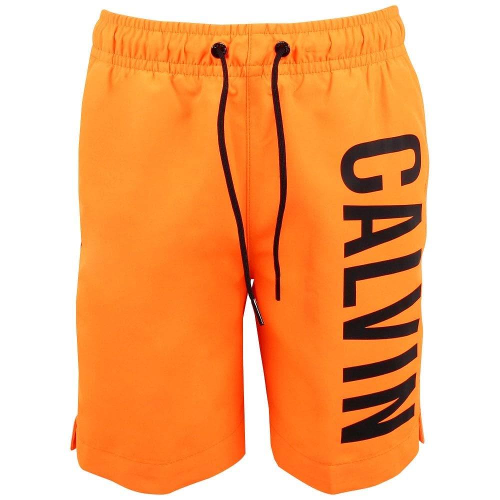 Calvin Klein Boy's Medium Drawstring Swim Trunks
