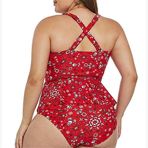 Tinta Unita Bagno In Rosso Stampa Donna colore Costumi Date Floreale Da Dimensione Xl Stampata Nero Con YnqwXEaTxB