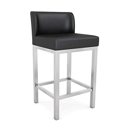 Swell Amazon Com Syf Cafe Modern Stainless Steel Bar Stool Gmtry Best Dining Table And Chair Ideas Images Gmtryco