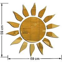 Redcolourful 3D Acrílico Sol Forma Espejo Superficie Etiqueta