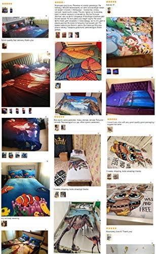 FDONTR Housse de Couette personnalisée 3D, Couette/Couette/Housse de Couette Reine/très Grand lit, Dream Catcher Retro Home Textile-2 Double (200x200cm) King(240x220cm)
