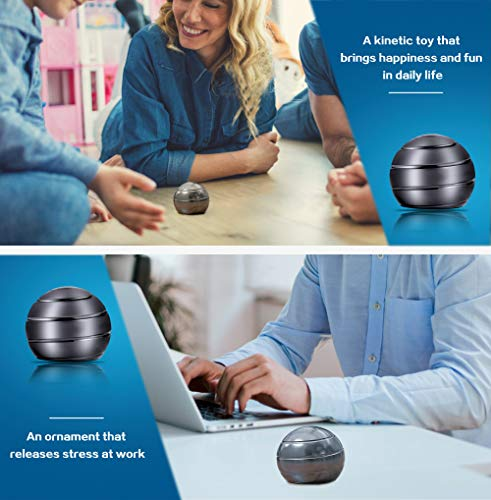 Mountain Giant Kinetic Desk Toy with Full Body Visual Illusion Ball Decompression Ball Fidget Stress Anxiety Relieves Aluminium Decoration Ball for Kids and Adults by Mountain Giant (Image #3)