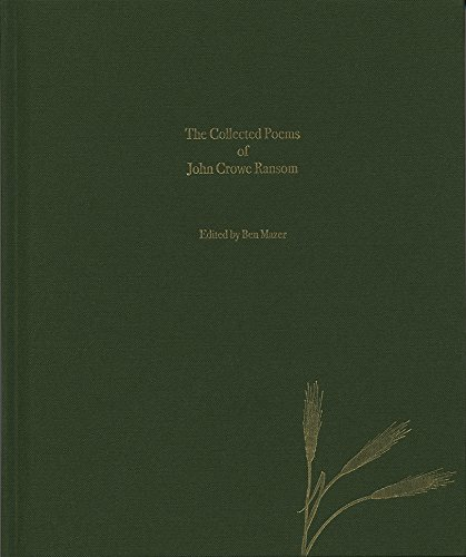 The Collected Poems of John Crowe Ransom