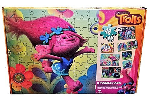 Dreamworks Trolls 8 Pack (48 Piece) Party Jigsaw Fun Puzzles by Dreamworks