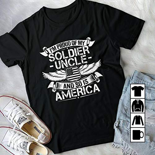 Soldier Uncle Support - Uncle Soldier Uncle Support Proud Nephew or Niece Gift Her uncle takes a personal interest in her progress T Shirt Long Sleeve Sweatshirt Hoodie For Best Time