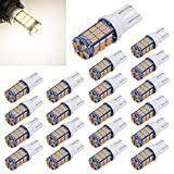 Aucan 20pcs Super Bright RV Trailer T10 921 194 42-SMD 12V Car Backup