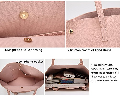 Anne de la mujer Tote Bolsas Casual Gran Capacidad del bolso Lady bolsos grandes bolsas de las mujeres gris claro
