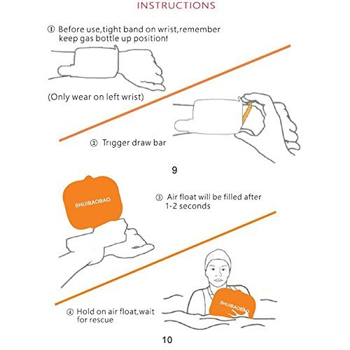 búfer Wearable portátil salvavidas dispositivo Fácil de agua flotando visillo flotabilidad ayuda dispositivo para adultos niños y Nueva flotador ertrunken ...