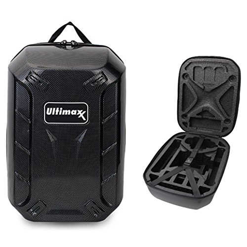 Ultimaxx Backpack for DJI Quadcopter Drones, Phantom 3 Professional, Phantom 3 Advanced, Phantom 3 Standard, DJI Phantom 2 Vision Plus , DJI Phantom 1, Phantom 2, Fits Extra Accessories and (Carbon Fiber Laptop Case)