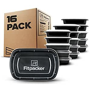Fitpacker Meal Prep Containers BPA-Free Food Storage and Portion Control (28oz - Set of 16)