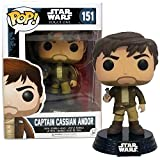 Year 2016 Pop! Star Wars Rogue One Series Exclusive 4 Inch Tall Vinyl Bobble Head Figure #151 - Captain Cassian ANDOR in Brown Jacket