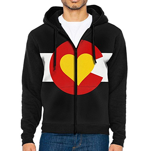 DM&MDHol Heart Colorado Men's Cool Full-Zip Pullover Hood With - Mall Stores Pueblo