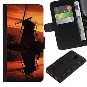 All Phone Most Case / Oferta Especial Cáscara Funda de cuero Monedero Cubierta de proteccion Caso / Wallet Case for Samsung Galaxy S5 Mini, SM-G800 // Sunset Beautiful Nature 92