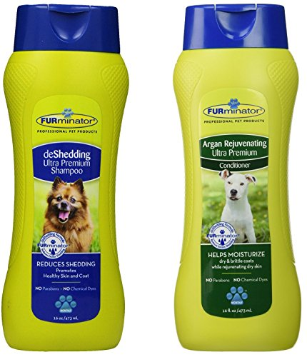 FURminator deShedding Ultra Premium Shampoo and Conditioner Bundle, 16-Ounce Each (Furminator Dog Conditioner compare prices)