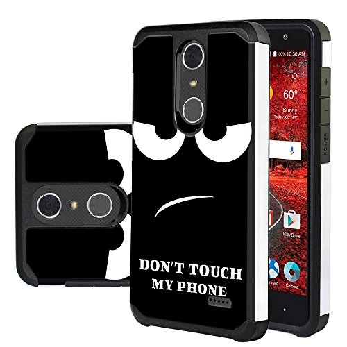 ZTE Blade Spark Case, ZTE Grand X 4 Case, Harryshell Shock Absorption Drop  Protection Hybrid Dual Layer Armor Defender Protective Case Cover for ZTE