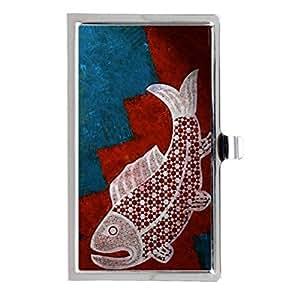 ABCone Custom Design, Fish Art Image Business Name Card Holder Case Metal Stainless Steel Pocket Fashion Case