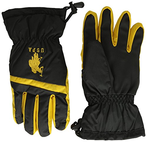 U.S. Polo Association Big Boys' Ski Gloves, Egg Yolk, One Size