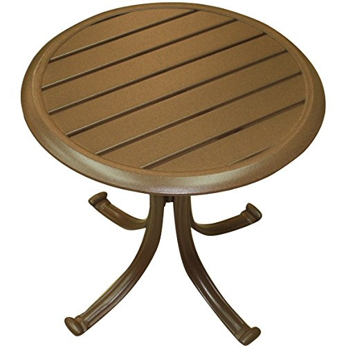 Panama Jack Outdoor Island Breeze Patio End Table with Slatted Aluminum Top (Furniture Breeze Outdoor)