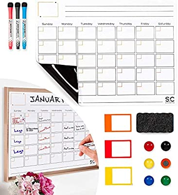 Magnetic Dry Erase Calendar And Weekly Planner. Whiteboard