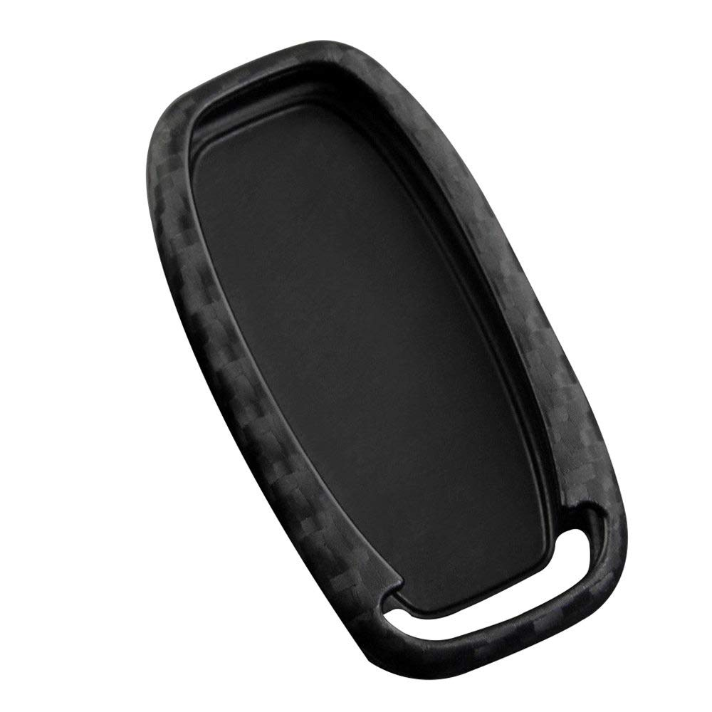 Refaxi Silicona Coche Funda De Llave Carbon Look Scratch Resistant para Audi A4 A5 A6 A7 A8 Q5 S4 S6