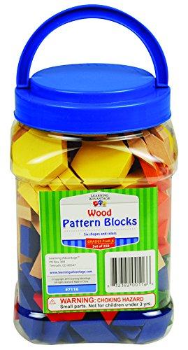 Learning Advantage 7116 Pattern Blocks, Grade: 8, Wood (Pack of 250)