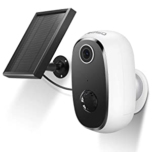 AKASO Wireless Outdoor Security Camera, WiFi Solar and Rechargeable Battery Indoor Home Security Camera, Alexa/Google Home, 1080P, Night Vision, 2-Way Audio, Motion Detect, IP65 Waterproof, Cloud/SD