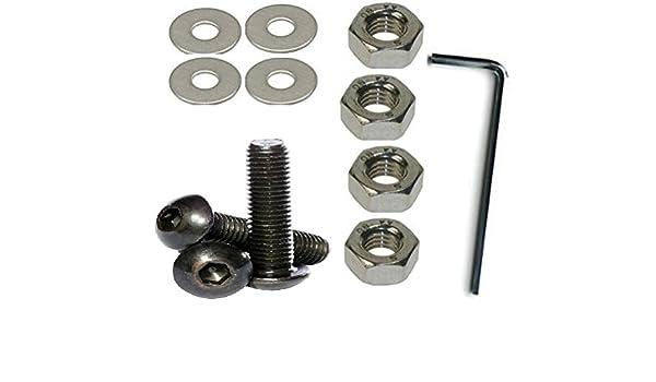 8 mm de cabeza tornillos de fijaci/ón tuercas y arandelas , 4 Pack M 8 x 25 mm acero inoxidable A2 llave Allen de cabeza redonda