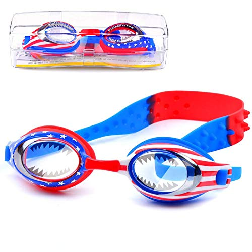 Kids Swim Goggles,Boys Swimming Goggles Waterproof Swimming Glasses With Clear Wide Vision Anti Fog UVA/UVB Protection and No Leak Soft Silicone Gasket for Boys Ages 3-14 Years Old by iToobe ()