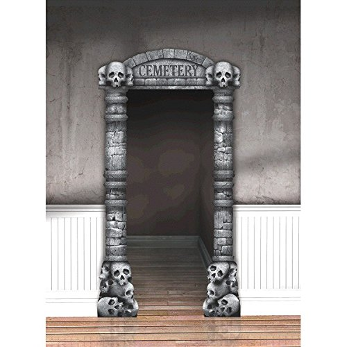 amscan Cemetery Deluxe Doorway Entry | Spooky Halloween Decor -