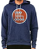 made in detroit - Made In Detroit Shifter Pull Over Hoodie - Navy w/Orange - XL