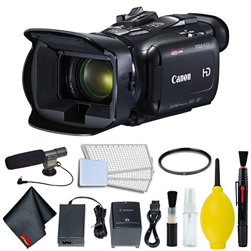Canon VIXIA HF G21 Full HD Camcorder 2404C002 Bundle w/Professional Microphone and 58mm UV Filter
