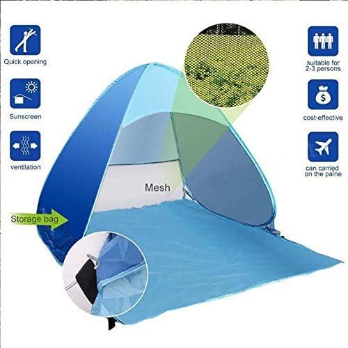 XIAMIMI Plegable Tienda de campaña para 3-4 Personas, la Familia de Camping, al Aire Libre, Tienda de la Playa al Aire Libre