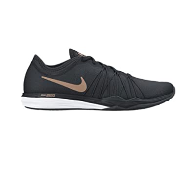 huge discount 7d357 b6110 Nike Women s WMNS Dual Fusion Tr Hit Black MTLC Red Bronze Multisport  Training Shoes-
