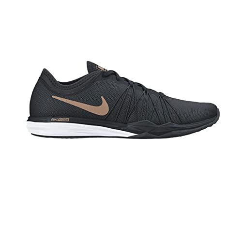 lowest price 78f15 473b8 Nike Women s WMNS Dual Fusion Tr Hit Blk Red Bronze-White Multisport  Training Shoes