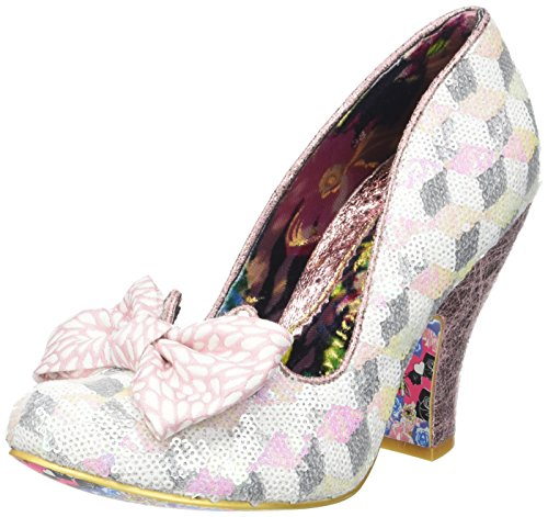 Irregular ChoiceNick Of Time - Scarpe con Tacco Donna Rosa (Pink Multi)