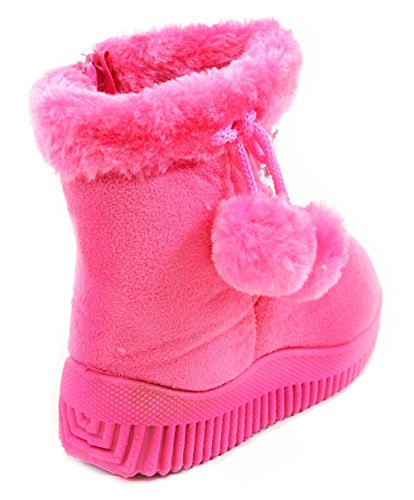 Moda Inverno A Stivali Baby Fourver Funky Rosa Pom Unisex Strass H7anqWRWIA