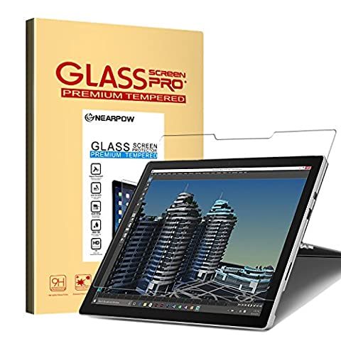 Nearpow Microsoft Surface Pro 4 Screen Protector 12.3 Inch, Tempered Glass Screen Protector with [9H Hardness] [2.5D Round Edge] [Crystal Clear] [Easy Bubble-Free Installation] [Scratch (Ipod 4 Screen Glass)