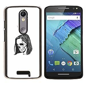 Stuss Case / Funda Carcasa protectora - Emo Esqueleto - Motorola Moto X3 3rd Generation