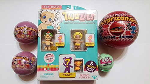 Surprise Stocking Stuffers includes 1 surprizamals series 2, 2 surprizamals series 3, 1 twozie by Stocking stuffer