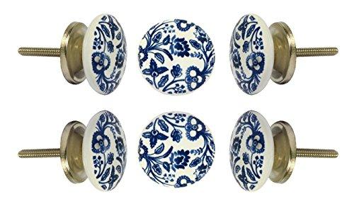 Set of 6 Ceramic Beckenham Cabinet Drawer Knobs Kitchen Cupboard Door Knob Dresser Wardrobe Pull by Trinca-Ferro