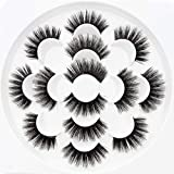 5D Mink False Eyelashes with Glue & Tweezer Dramatic Faux Lashes with Adhensive