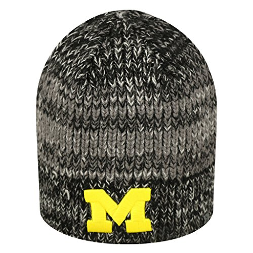 Michigan Wolverines Official NCAA Uncuffed Knit Beanie Stocking Hat Cap 267672 (Wolverine Mascot)