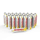 Tenergy AA Rechargeable NiCD Battery, 1.2V 1000mAh High Capacity AA Batteries for Solar Lights, Garden Lights, Remotes, Mice, 24-Pack