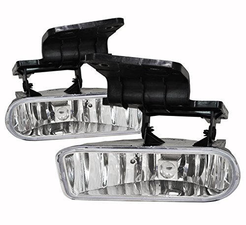 Chevy Chevrolet Silverado Suburban Tahoe 1500 2500 3500 Clear Fog Light Lamp 880 Hid 8000K Kit Xenon Assembly Complete Kit Driving Front Bumper Conversion Lh Rh Pair Set