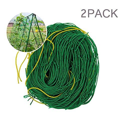 Elaiko Nylon Trellis Netting Plant Support for Climbing Plants, Vine and Veggie Trellis Net 2pack (5.9 x 11.8Ft)