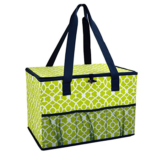 - Picnic at Ascot Collapsible Storage Container/Organizer for Home and Trunk - Trellis Green