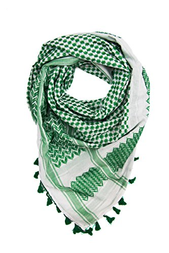 (Hirbawi Premium Arabic Scarf 100% Cotton Shemagh Keffiyeh 47